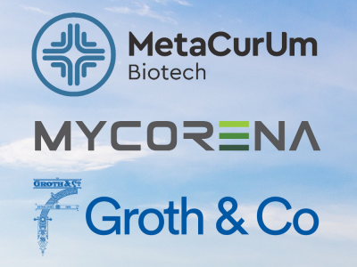 Logotyper Metacurum, Mycrena, Groth & Co